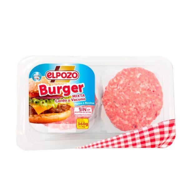 Oferta de Burguer mixta cerdo/vacuno, 360g por 2,75€