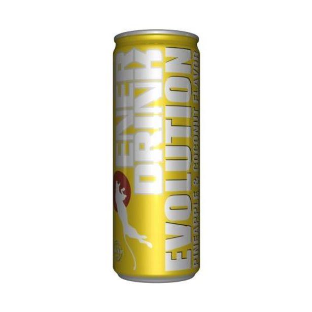 Oferta de Bebida energética piña/coco lata, 250ml por 0,5€