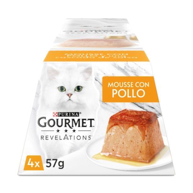 Oferta de Comida gatos mousse con pollo 57g, pk-4 por 2,5€