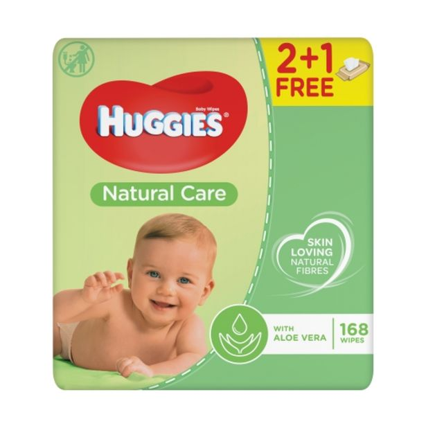 Oferta de Toallitas infantil natural care 56 ud, pk-3 por 2,99€