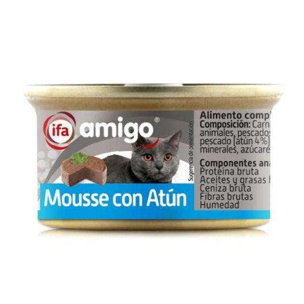Oferta de Comida gatos mousse con atún, 85g por 0,4€