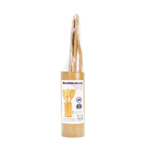 Oferta de Juego 3 utensilios de cocina bambú, ud por 1,95€