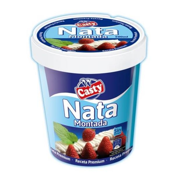 Oferta de Nata montada premium, 500ml por 1,45€
