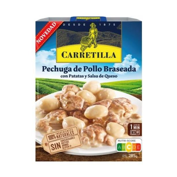 Oferta de Pechuga de pollo braseada con patatas y, 285g por 3,5€