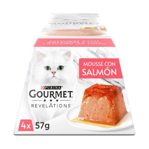 Oferta de Comida gatos mousse con salmón 57g, pk-4 por 2,5€