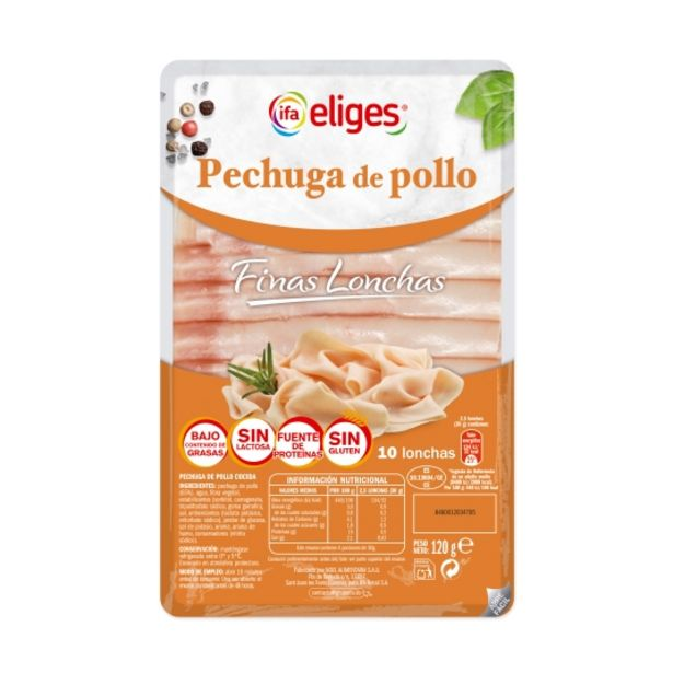 Oferta de Pechuga de pollo lonchas finas, 120g por 1€