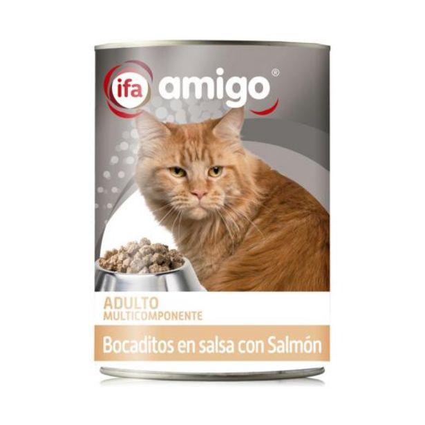 Oferta de Bocaditos gatos de salmón, 400g por 0,5€