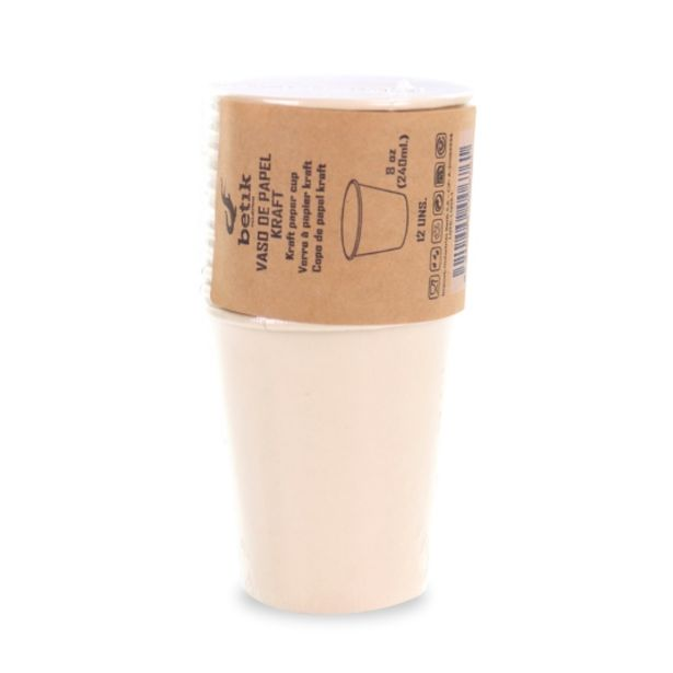 Oferta de Vaso kraft 8 oz 240ml, 12ud por 1,2€