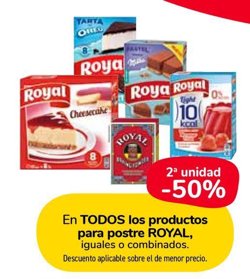 Oferta de En TODOS los productos para postre ROYAL por