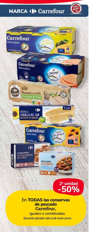 Oferta de En TODAS las conservas de pescado Carrefour por