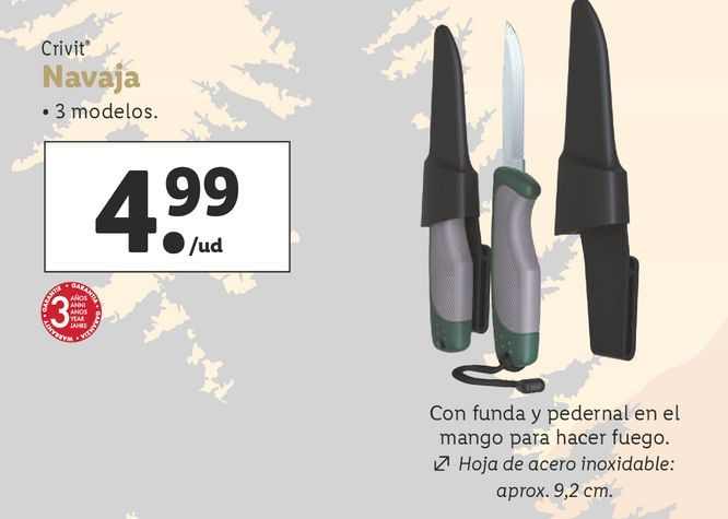 Oferta de Navajas Crivit por 4,99€