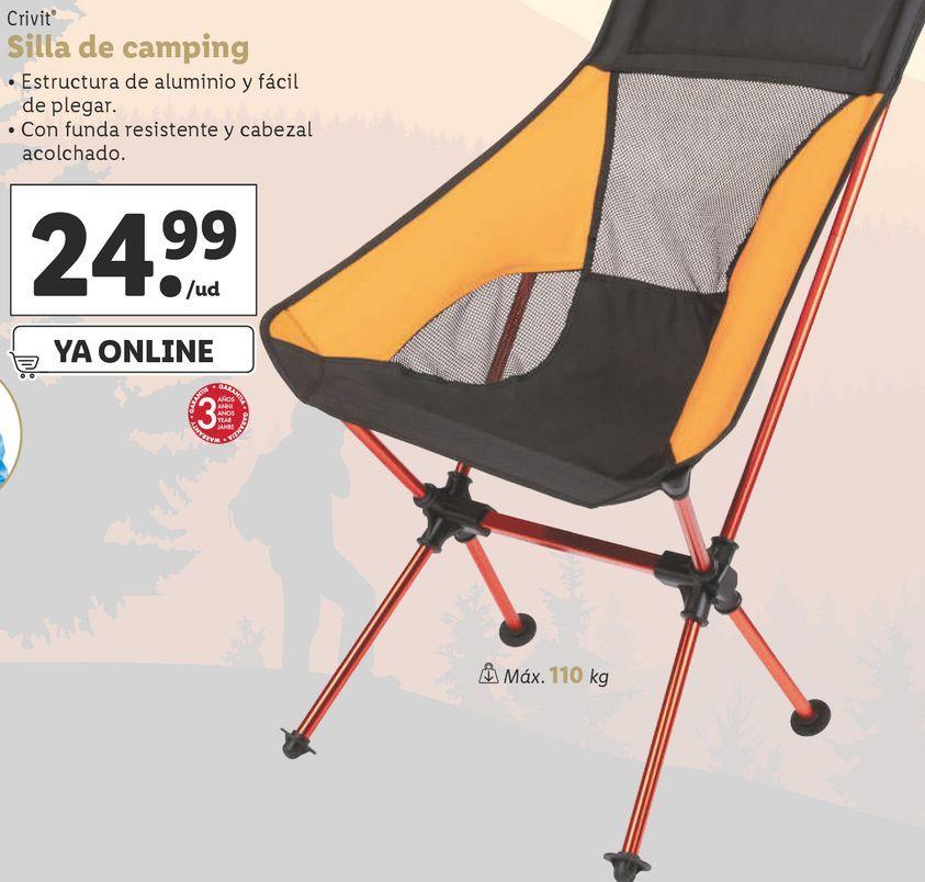 Oferta de Silla de camping Crivit por 24,99€