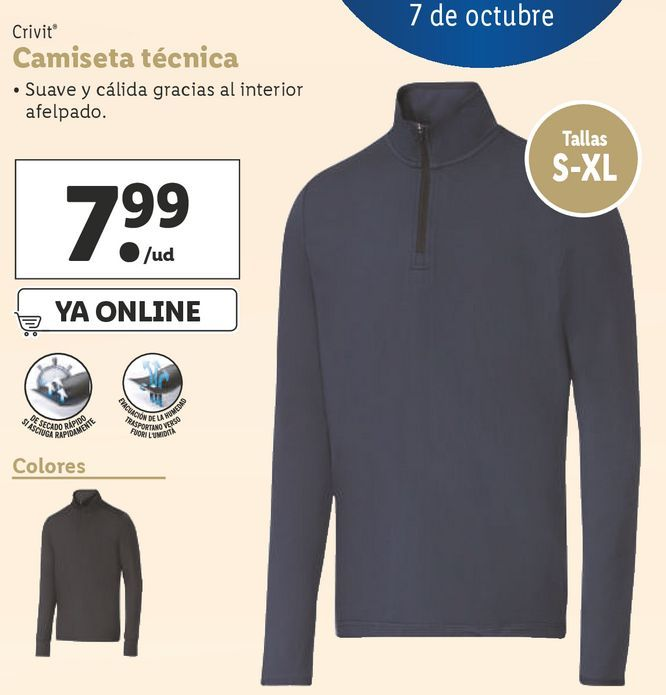 Oferta de Camiseta hombre Crivit por 7,99€