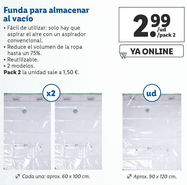 Oferta de Funda al vacío para almacenaje por 2,99€