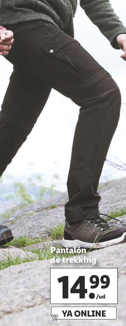 Oferta de Pantalones trekking hombre por 14,99€