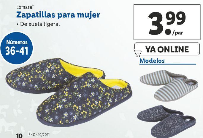 Oferta de Zapatillas esmara por 3,99€