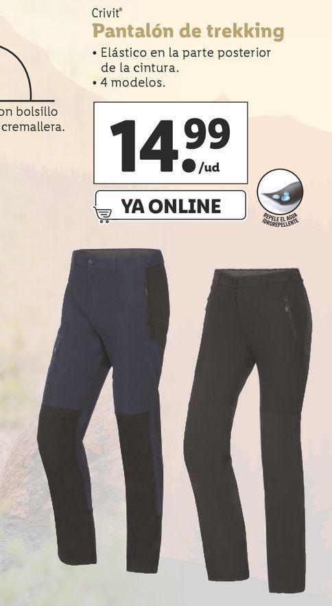 Oferta de Pantalones trekking mujer Crivit por 14,99€