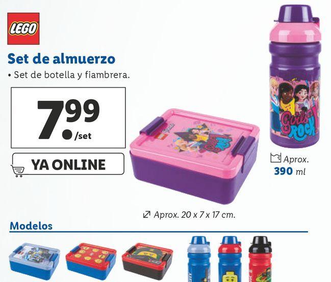 Oferta de Portameriendas LEGO por 7,99€