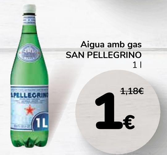 Oferta de Agua con gas SAN PELLEGRINO por 1€