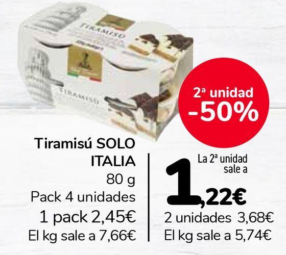 Oferta de Tiramisú SOLO ITALIA  por 2,45€
