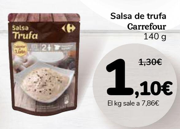 Oferta de Salsa de trufa Carrefour por 1,1€