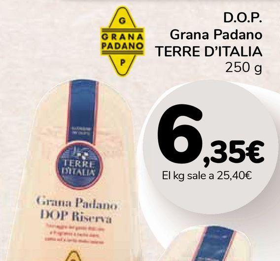 Oferta de D.O.P. Grana Padano TERRE D'ITALIA por 6,35€