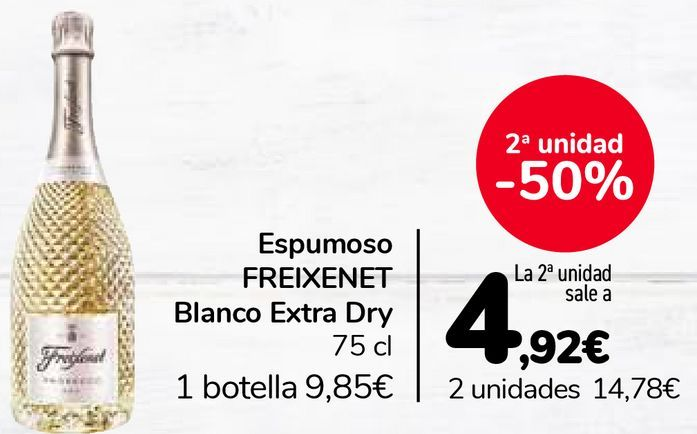 Oferta de Espumoso FREIXENET Blanco Extra Dry por 9,85€