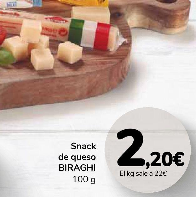 Oferta de Snack de queso BIRAGHI por 2,2€
