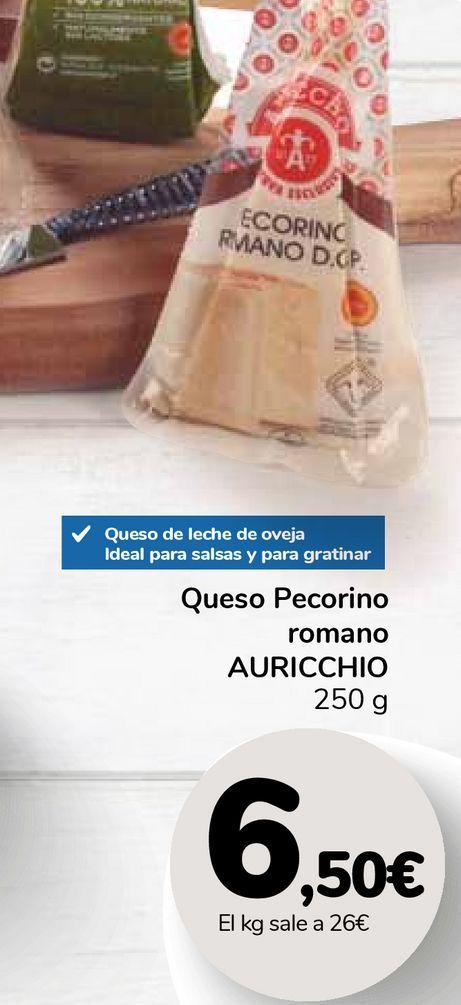 Oferta de Queso Pecorino romano AURICCHIO por 6,5€