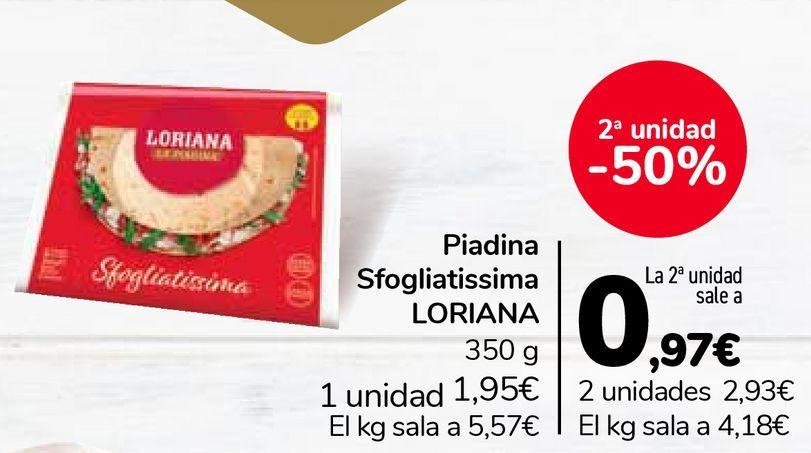 Oferta de Piadina Sfogliatissima LORIANA  por 1,95€