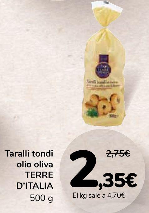 Oferta de Taralli tondi olio oliva TERRE D'ITALIA por 2,35€