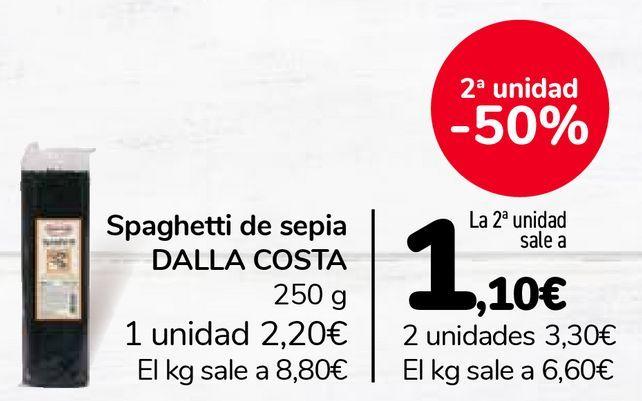 Oferta de Spaghetti de sepia DALLA COSTA por 2,2€