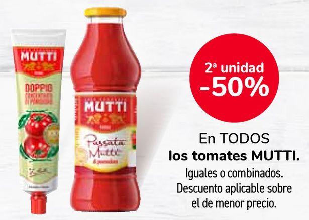 Oferta de En TODOS los tomates MUTTI por