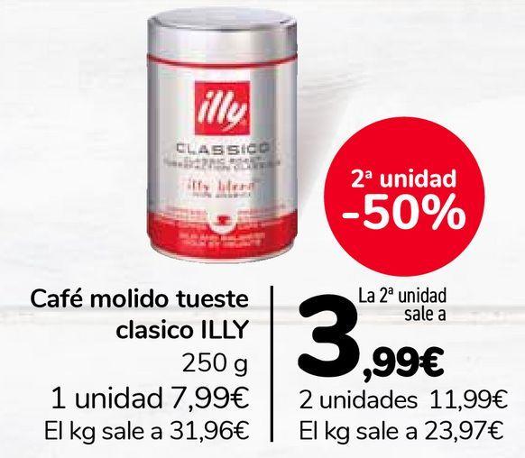 Oferta de Café molido tueste clásico ILLY por 7,99€