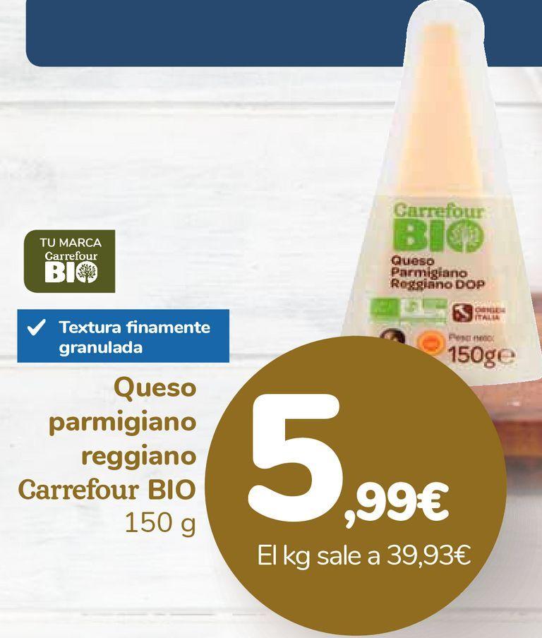 Oferta de Queso parmigiano reggiano Carrefour BIO por 5,99€