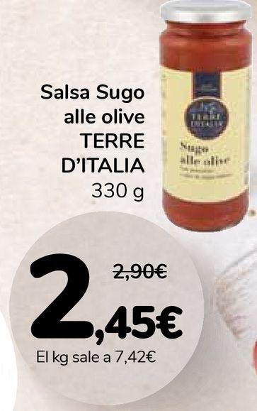 Oferta de Salsa Sugo alle olive TERRE D'ITALIA por 2,45€