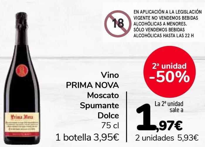 Oferta de Vino PRIMA NOVA Moscato Spumante Dolce por 3,95€