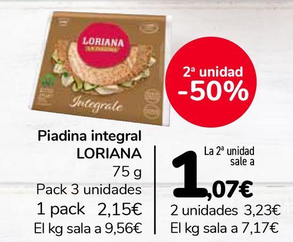 Oferta de Piadina integral LORIANA  por 2,15€