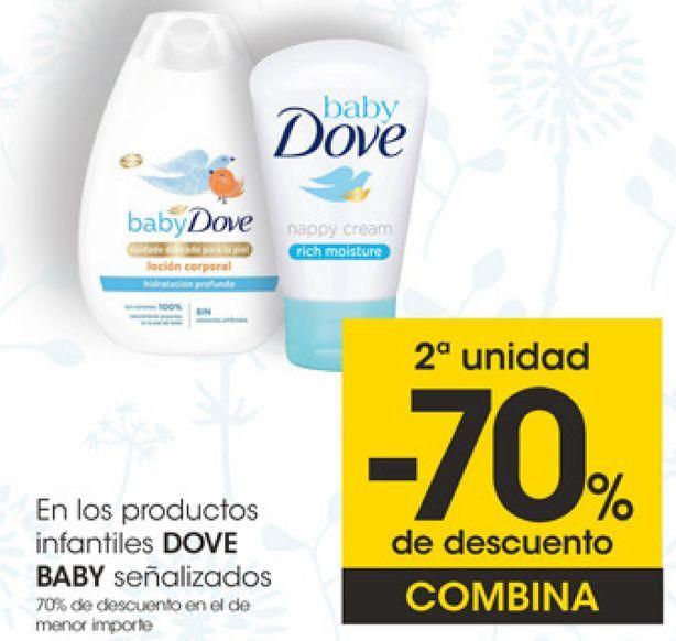 Oferta de En los productos infantiles DOVE BABY señalizados por