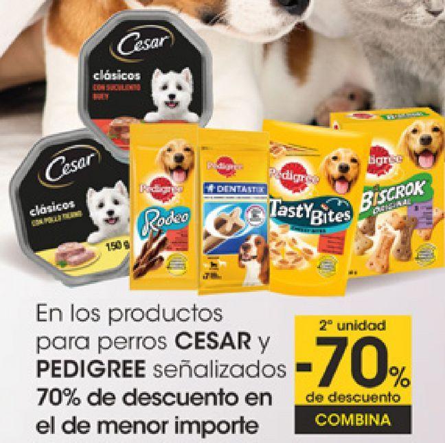 Oferta de En los productos para perros CESAR y PEDIGREE Señalizados  por