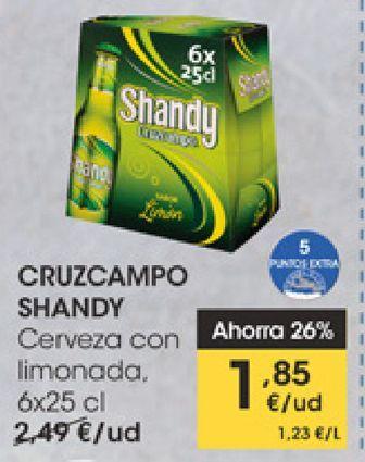 Oferta de CRUZCAMPO SHANDY Cerveza con limonada  por 1,85€