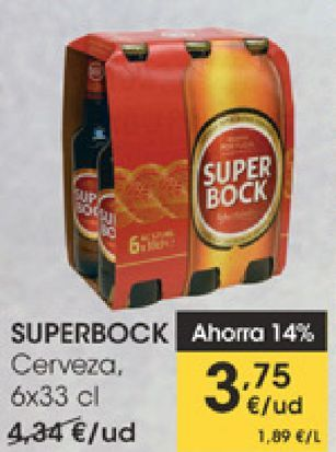 Oferta de SUPERBOCK Cerveza  por 3,75€