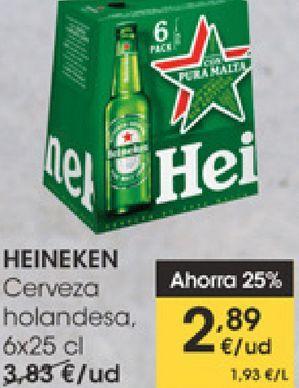 Oferta de HEINEKEN Cerveza holandesa  por 2,89€