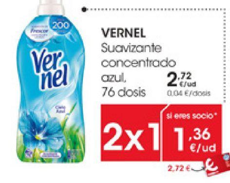 Oferta de VERNEL Suavizante concentrado azul por 2,72€