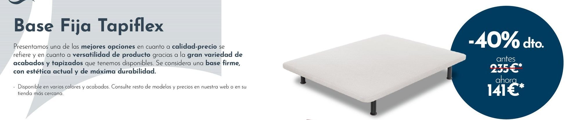 Oferta de Base tapizada de canapé por 141€