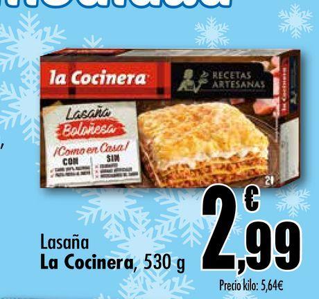 Oferta de Lasaña La Cocinera, 530 g por 2,99€