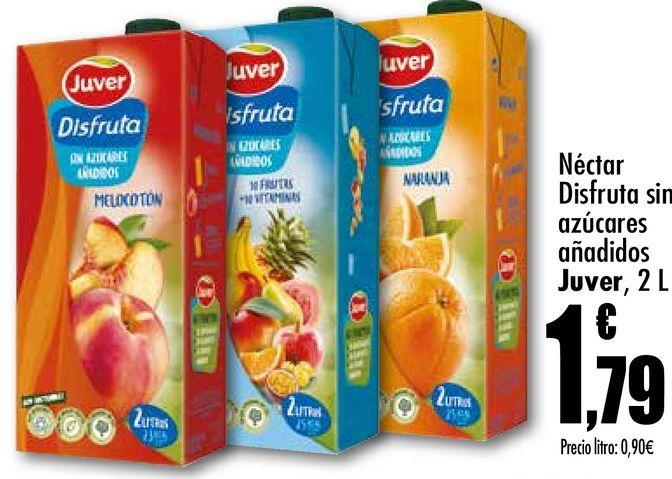 Oferta de Néctar Disfruta sin azúcares añadidos  Juver 2L por 1,79€