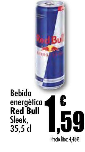 Oferta de Bebida energética Red Bull Sleek, 35.5 cl por 1,59€