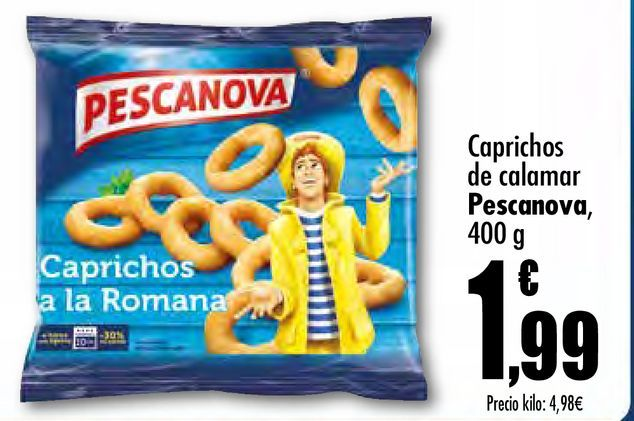 Oferta de Caprichos de calamar  Pescanova, 400 g por 1,99€