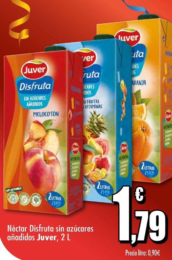 Oferta de Néctar Disfruta sin azúcares añadidos Juver, 2 L por 1,79€